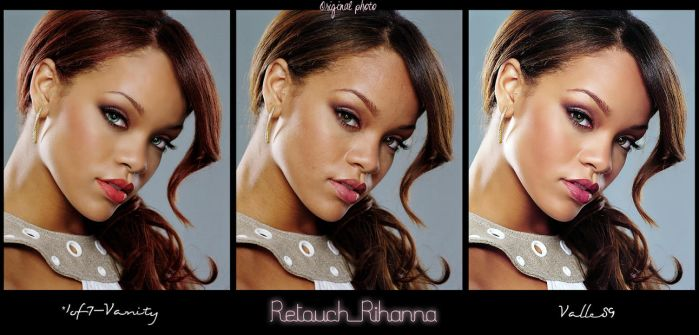 Double Retouch for Rihanna by Valle89