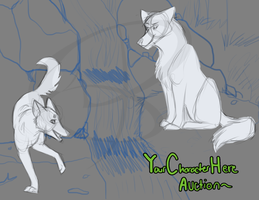 YCH auction couple wolves by Kona-Ann