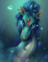 Turquoise Serpent by AuldBlue