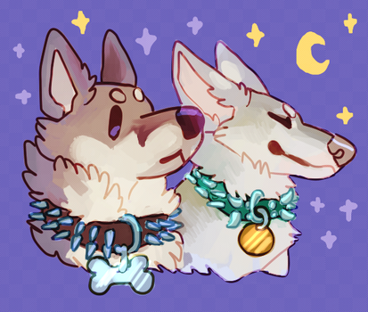 doge and woof by canned-eggs