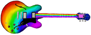Nyan Cat Guitar by I-slay