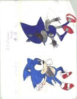 sonic vs mecha sonic by juicethehedgehog