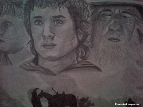 Lord of the Rings Realistic Drawing Finished by kennethkangaroo
