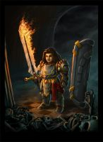 Dwarf Paladin (Commission) by SteveSketches