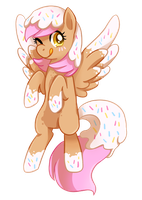 commission -- donut pony by tsurime