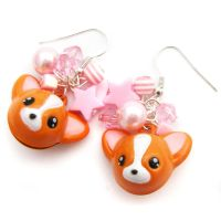 Chihuahua Bell Earrings by fairy-cakes