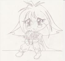Slayers - Hugs for Zelly by WhiteMagicPriestess
