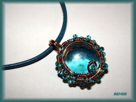 Turquoise glas pendant by jasmin7