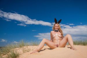 Curl Curl Easter Bunny: Naked #1 by KimCums
