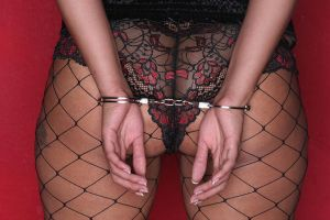 Handcuffs the back view by Bearphotography