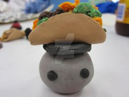 Sculpey Pet Rock Taco Hat by LuckyPenny13