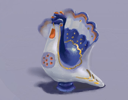 Ceramic bird by HengenVaarallinen
