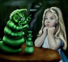Alice and The Caterpillar by SeamanArts-Artwork