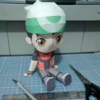 Pokemon Papercraft -  Chibi Brendan by DenisSensei