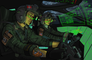 Tactical Airlift Command: Night Mission by Masque-De-Mort