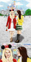 Faberry on a date at Disneyland by MoishPain
