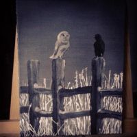 Quiet place (Black and White Painting) by ViviMaslow