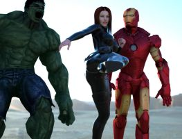 The Avengers in 3D by 3DXArt