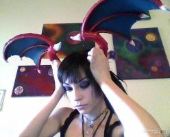 Lilith Head Wings Progress! by DecayedxElegance