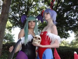 Morrigan and Lilith by frenchraph
