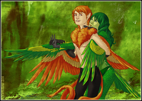 Aaron and Avianna by ashkey