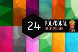 24 Beautiful Polygonal Backgrounds by PSFries