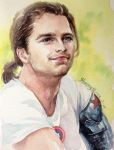 Bucky with a ponytail by ladysherry