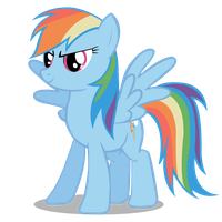 Rainbow dash vector by sashabunnybutt