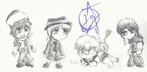 The Twisted Cast as...CHILDS by YoshiLovesAuto