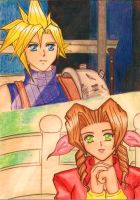 Cloud x Aerith: Her last smile... by dagga19