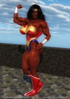 Yvette Bova Wonder Woman by Thatbumzzz by zenx007