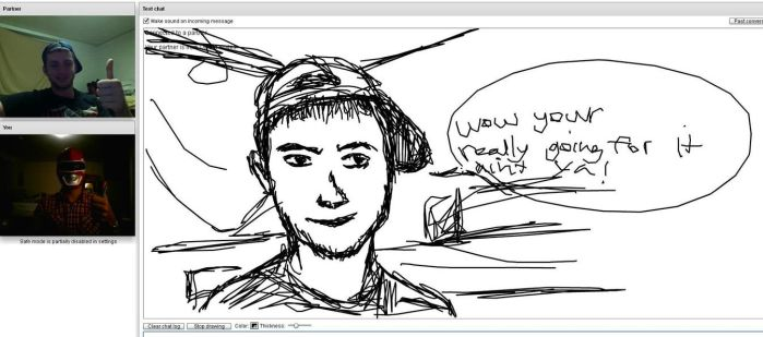 more chatroulette sketching by FireWaterHFX