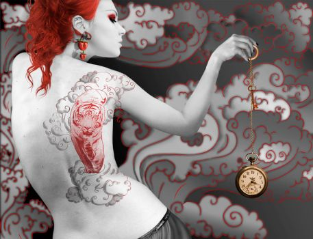 Tiger Tattoo Girl by spgeteam