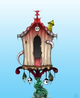 The Haunted Bird House by githos