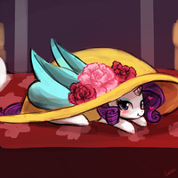 (30minutechallenge) rarity's giant hat by luminaura