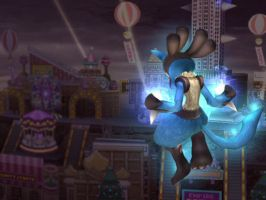 Lucario has come to town by Subspace-Journalist