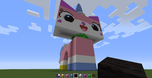 Princess Unikitty in Minecraft by ToaLittleboehn