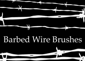 Barbed Wire Brushes by NessaPalmerStock