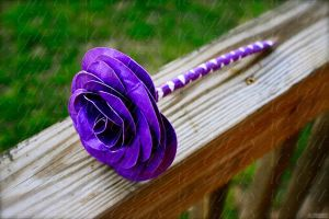 purple duct tape rose 1 by lyssalove
