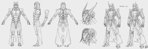 Warframe - Typhus and his Incubus set - Sketch by RedSkittlez-DA