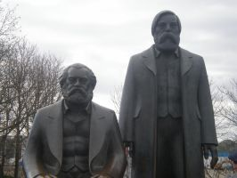 Marx and Engels by Kooskia