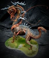 Painted Kirin Sculpture 2 by LucidDesignFX