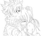 Natsu and Lucy (Line Art) by KelvinCheng