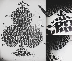 Clubs Calligraphy Calligram (2/4) by Milenist