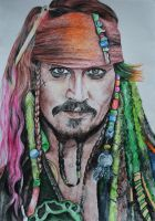 Captain Jack Sparrow by naiyaparkash
