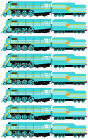 Connor the Blue Streamlined Engine (Sprite Sheet) by JamesFan1991