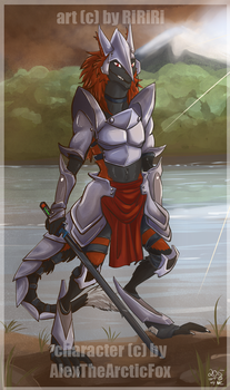 [C] Forest Warrior (for AlexTheArcticFox @ FA) by Carmalicious