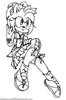 :Amy Rose - Sketch: by Nine-Roses