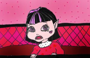 baby Draculaura crying by Selinelle