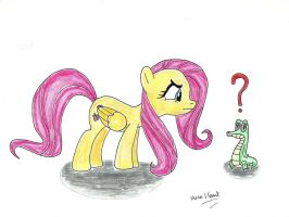 Fluttershy and Gummy by UlyssesGrant